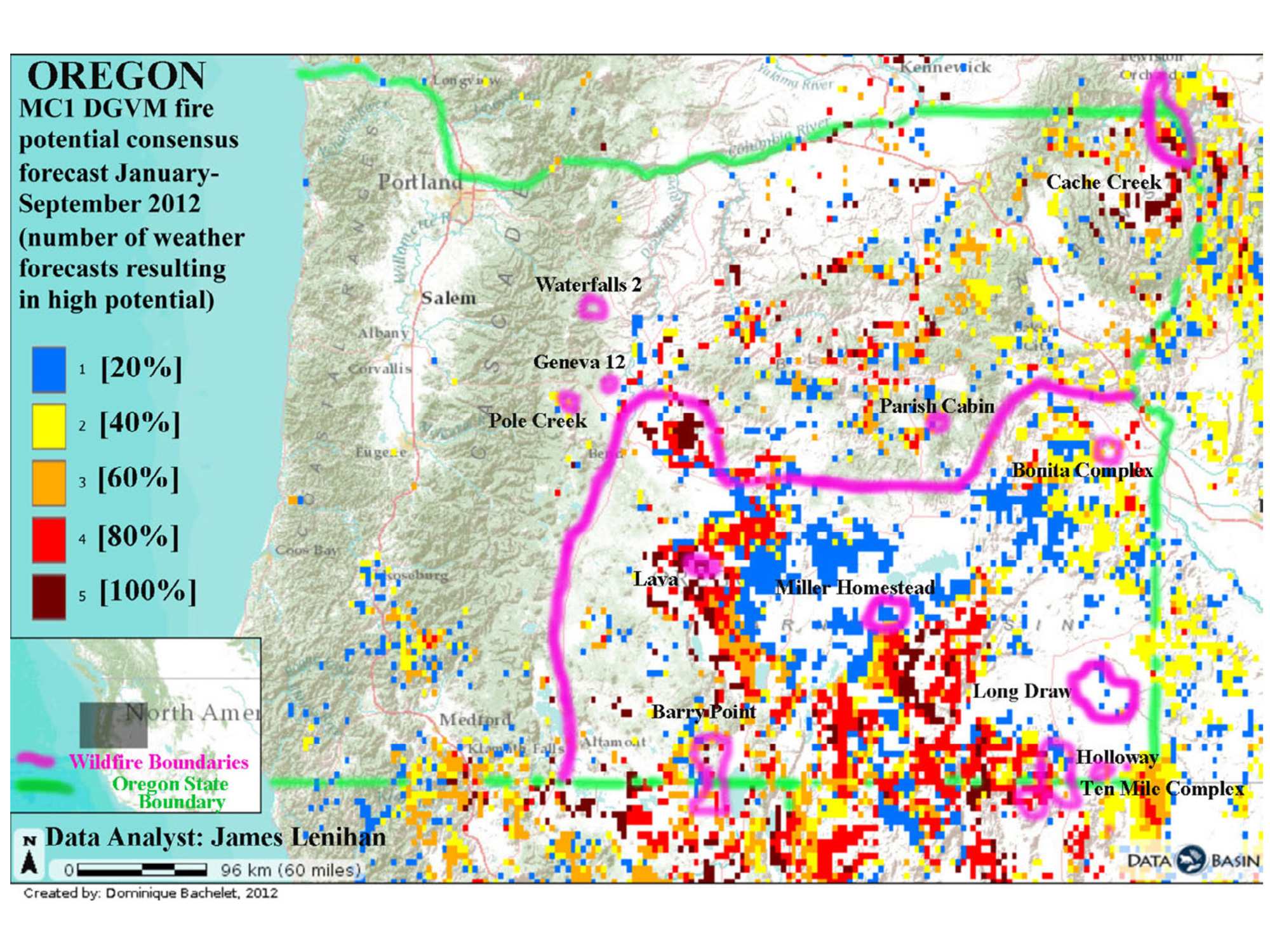 Nw Maps Co Zybach Presentation Oregon Wildfires August 27 2014