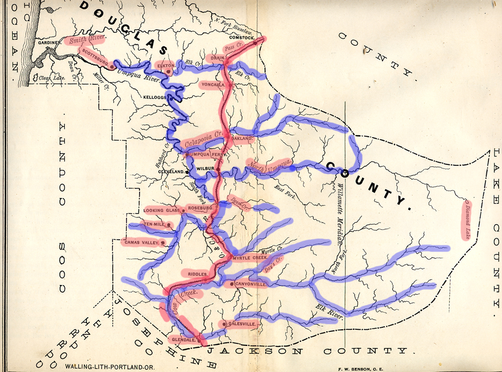 ... were the primary scene of gold mine prospecting, Rogue River Indian Wars, and white occupation and settlement in southwest Oregon between 1848 and 1856.