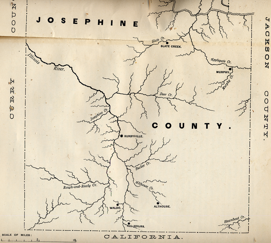 ... Rogue River Indian Wars, and white occupation and settlement in southwest Oregon between 1848 and 1856. Subsequent landscape patterns on the land, ...